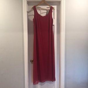 Beautiful pink cocktail long dress